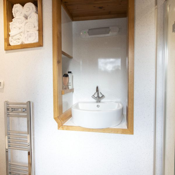 A bathroom on the Highland Lassie boat